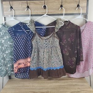 6 Piece Lot Of Womens Summers Tops Medium